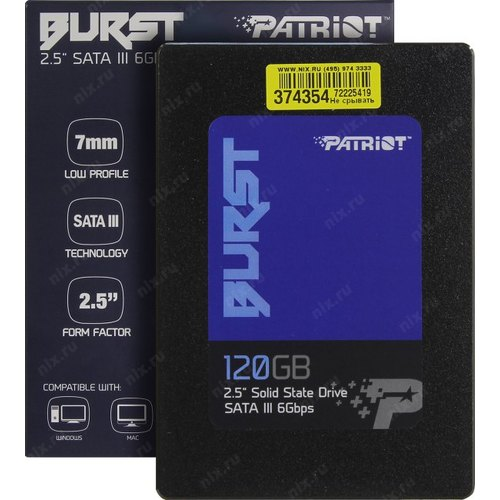 Patriot PBU120GS25SSDR BURST 120GB SATA3 2.5 SSD DRIVE